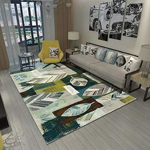 VitaLity Teppich für Schlafzimmer Wohnzimmer Boden Sofa Stuhl,Geometrische Modern Bodenmatte des Abstrakten Teppichrechtecks,Teppich Unterlagen rutschfest 160X230CM
