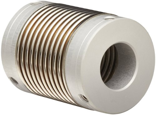 Huco 321.07.1416.Z Size 07 Flex-Ni Bellows Coupling, Electroplated Nickel With Aluminum Hubs, Inch, 0.118