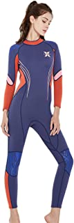Micosuza Women Wetsuits 3mm Neoprene Sun Protection Full Body Surfing Suit Diving Snorkeling Swimming Thermal Jumpsuit
