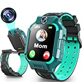 Kids Smart Watch for Girls Boys 4-12 Age 360°Rotation Dual Cameras Waterproof LBS Tracker Phone Watch with 1.5' Touch Screen SOS Call Games Alarm Clock Children Learning Toy Birthday Gift
