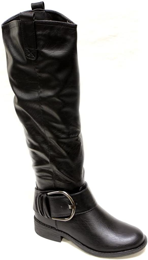 ANNA Zip-6 Women's Almond Toe Wide Side Ranking TOP5 Strap New Orleans Mall Buckled Half Ankle