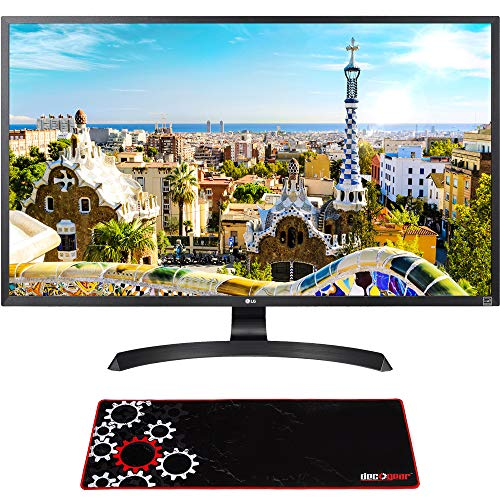 LG 32UD59-B 32-inch 4K UHD LED Monitor 3840 x 2160 16:9 Bundle with Deco Gear Large Extended Pro Gaming Mouse Pad Water Resistant Non-Slip (12-inch x 32-inch)