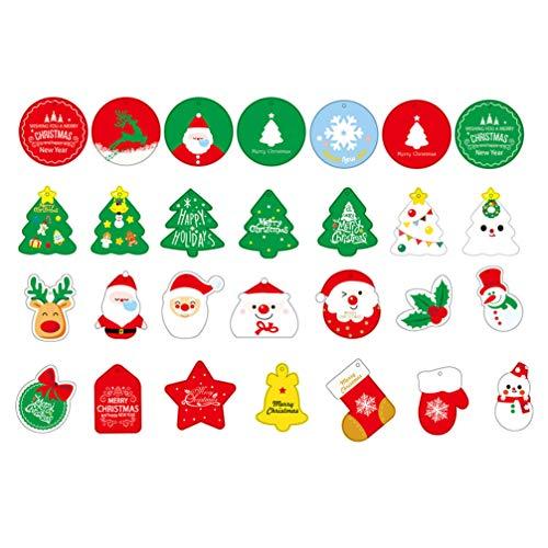Healifty Weihnachten Hängen Tags Geschenkanhänger Weihnachtsfeier Verpackung Liefert 81Pcs
