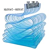 Tenda per Porta Termica GDMING Tenda di Plastica Spessore 1.8mm Tenda per Porta Trasparente A Strisce Blu per Celle Frigorifere Camion Refrigerato Antigelo Tenda in PVC, 17 Taglie