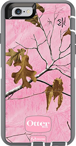 OtterBox DEFENDER iPhone 6/6s Case - Retail Packaging - REALTREE XTRA PINK (WHITE/GREY W/XTRA PINK CAMO)