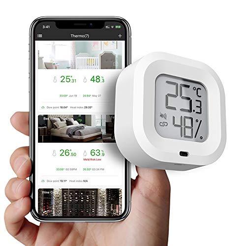 Topwor Bluetooth-Thermometer-Hygrometer,...