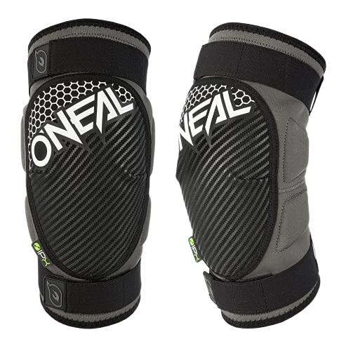 O'NEAL | Knie- & Schienbeinprotektor | MTB BMX Mountainbike DH FR | Zertifiziert nach der Norm EN 1621-1, Problemlos auch unter der Hose zu tragen | Drop Knee Guard | Erwachsene | Grau Weiß | Größe L