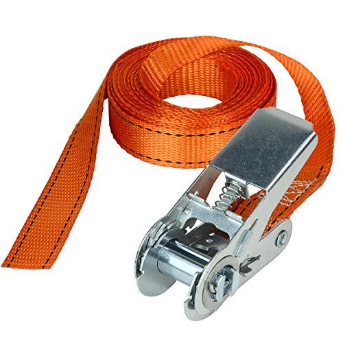 Master Lock 3209EURDAT Fast Link Spanngurt mit Ratsche, Orange, 5 m x 25 mm Gurt