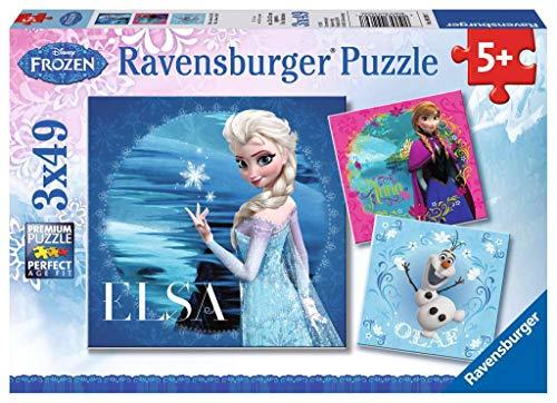 Ravensburger Kinderpuzzle 92697 - Elsa, Anna & Olaf - 3 x 49 Teile