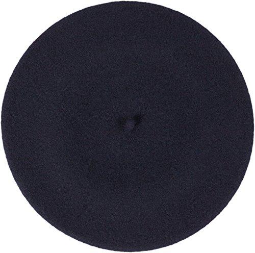 LOEVENICH Damen Baskenmütze Wollbaske Künstler-Kappe aus Reiner Schurwolle - 16 Farben