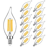 E12 LED Candelabra Bulb 60W Equivalent Dimmable...