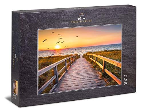 Ulmer Puzzleschmiede - Puzzle Sylt: Puzzle de 1000 Piezas - Atardecer en la Playa de Sylt