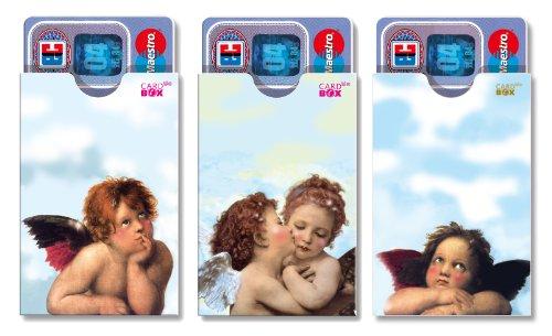 cardbox Engel Set /// Motive: Engel/Putten/Schutzengel /// 3er Set /// Hüllen für Karten Aller Art im Scheckkartenformat