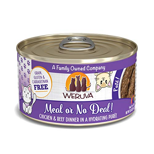 Weruva Classic Cat Paté, Meal or No Deal! with Chicken & Beef, 3oz Can (Pack of 12)