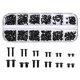 Juego de Tornillos 240 Piezas Tornillo de Ordenador M2 M2.5 M3 Tornillos de Cabeza Plana Conjunto Tornillos para Ordenador Portátil para Computadora Disco Duro SSD Reparar gafas