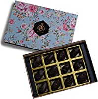 Queen & Bee Almond Date Chocolate Gift Box (45% Dark Chocolate – 12pc) (180gm)