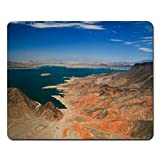 Mouse Pad with Non-Slip Rubber Base Blue Mohave The Colorado River and Its Lakes Formed by Hoover and Davis Dams America Gaming Mousepad for Computer Notebook Laptop PC, 7.1x8.7 Inches