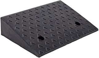 Rubber Curb Ramp, 5.9inch Heavy Duty Rubber Curb Ramp for Loading Dock Bike Driveway Vehicles - 18.7in L x 15.7in W x 5.9in H