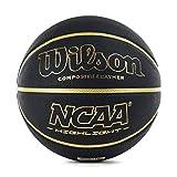 Wilson, Pallone da basket, NCAA Highlight, Nero/Oro, Pelle sintetica, Uso all'interno e al...