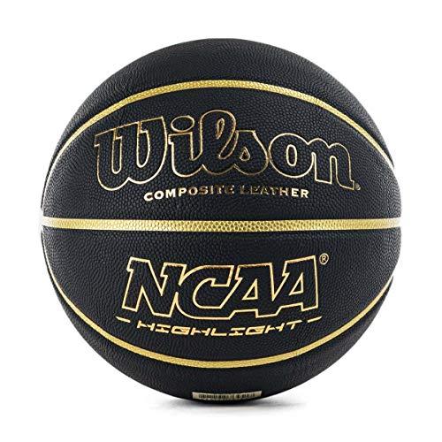 Wilson Men's NCAA Highlight 295 BSKT Basketball, Black/Gold, Official