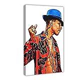 Hiphop Rapper Sänger Pharrell Williams 1 Leinwand-Poster,