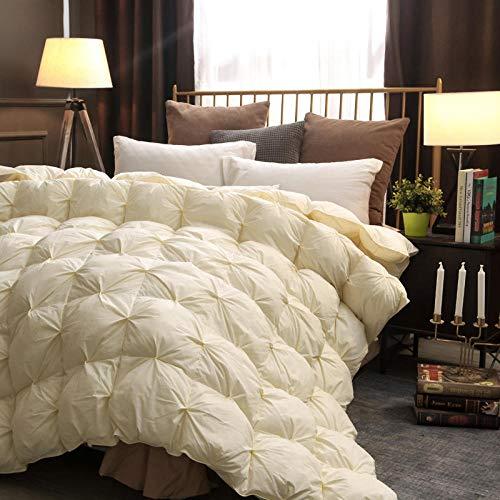 JKCTOPHOME Bettdecke Baumwolle Winter,Herbst und Winter Wohnraum einfache einfarbige Dicke warme Bettdecke-D_200 * 230cm-3kg,Daunendecke