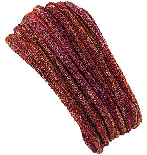 Guru-Shop Magic Hairband, Dread Wrap, Schlauchschal, Stirnband, Mütze, Herren/Damen, Loopschal Orange/rot, Baumwolle, Size:One Size, Stirnbänder Alternative Bekleidung