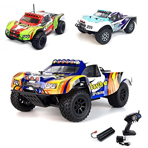 1 18 Elektro 2 4GHz Off Road RC ferngesteuerter Short Course Pickup Truck Buggy,4WD, Digital vollproportionale Steuerung Top Speed bis zu 35 km h, Komplett Set RTR*