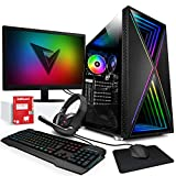 Vibox I-32 PC Gaming con un Juego Gratuito - Windows 10 - Pack Monitor - WiFi - Quad Core Ryzen...