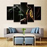 Aehoor Moderna Art 5 Piezas/Set HD Cuadro en Lienzo Impresión Artística Imagen Gráfica Decoracion de Pared Pintura de Pared Corredor Oficina Sala Decorativo Batman 55/45/35x20CM Frameless