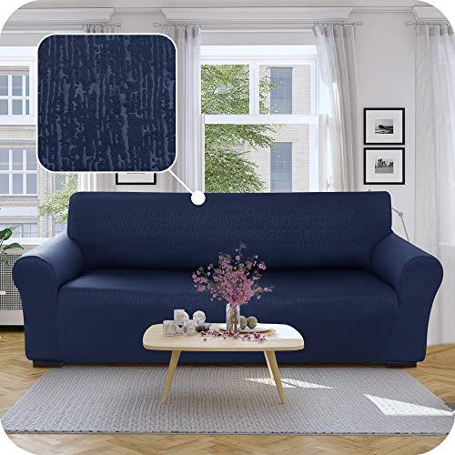 UMI Amazon Brand Housse de Canape 3 Places Bleu Marine avec Accoudoirs Elastique Housse de Protection Canape