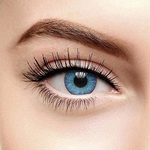 chromaview 3 Ton Farbige Kontaktlinsen Ohne Stärke Smaragdblau (90 Tage)