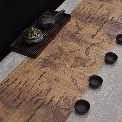 HH- Camino de Mesa Camino de Mesa de Te de Bambu Impreso para la Cocina Casera/Mesa de Comedor/Salon de Te, Mantel Artesanal Mantel de Te, 30 cm de Ancho (Size : 30×150cm(11.8\×59.1\))