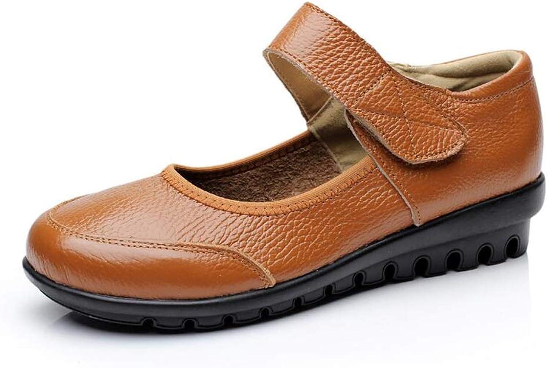 Gusha Women's Fashion Flat Single shoes Ladies Casual Beanie Round Head Boat shoes