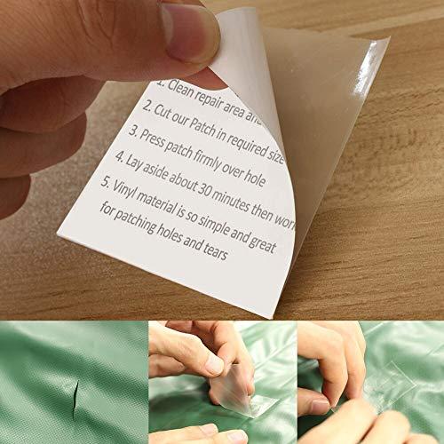 BLOUR 5Pcs TPU Selbstklebende durchscheinende Aufkleber Wasserdichtes Patch Outdoor Zelt Reparaturjacke Trampoline Repair Tape Cloth Patch # 2