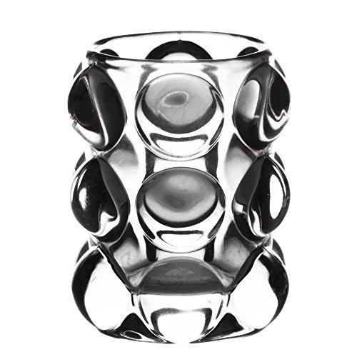 TABLE PASSION - Photophore Perle Tube Haut Verre Transparent h10
