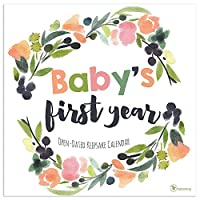 Baby's First Year Floral Open Dated Calendar