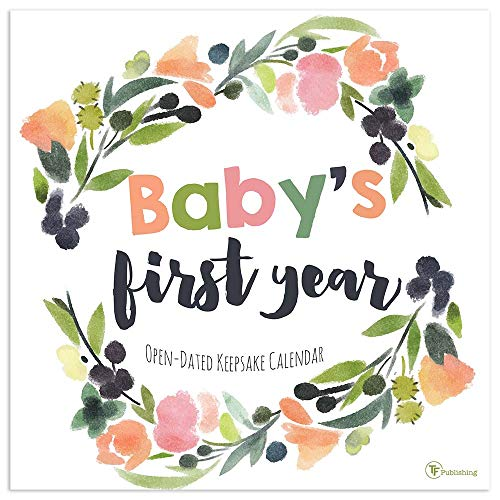 Baby's First Year Undated Floral Memory Wall Calendar
