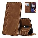 AKABEILA Case for OnePlus 6T Premium Leather Flip Wallet