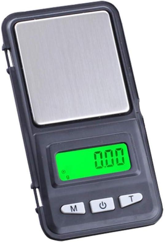 HJTLK Báscula Digital de Cocina, LCD 0 01G / 0 1G Báscula de balanza para Oro Bijoux Sterling Diamond gram Pocket Báscula Digital Báscula