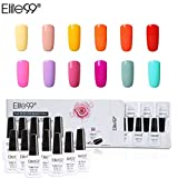 Elite99 Esmalte Semipermanente UV LED 12pcs Kit Uñas de Gel Pintauñas Esmalte de Uñas Soakoff Manicura Color de Macarrón - Gift set 015