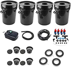 HYDDNice Hydroponic Grow Kit with Pump 5 Gallon Large Buckets Complete Hydroponic Set Hydroponic Growing System Garden Vegetable Planting Tool