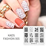KADS Nail Art Stamping de moda Plantilla Uñas Decoración Pegatinas Imagen de Bricolaje Manicura Estampado Placa Herramientas de la Plantilla (FASHION 005)