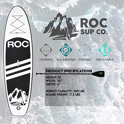 Product Image 7: Roc Inflatable Stand Up Paddle Boards W Free Premium SUP Accessories