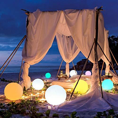 Luces Flotantes para Piscinas, Luces de Bola de Estanque LED, con Mando a Distancia, IP65 a Prueba de Agua, para Piscina, Jardín, Patio Trasero, Césped, Playa, Decoración de Fiesta