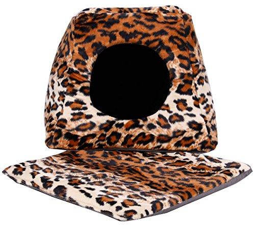 """Katzenhaus Plüsch \""""Safari Cats\"""" in Verschiedenen Farben/Mustern (Leopard)"""