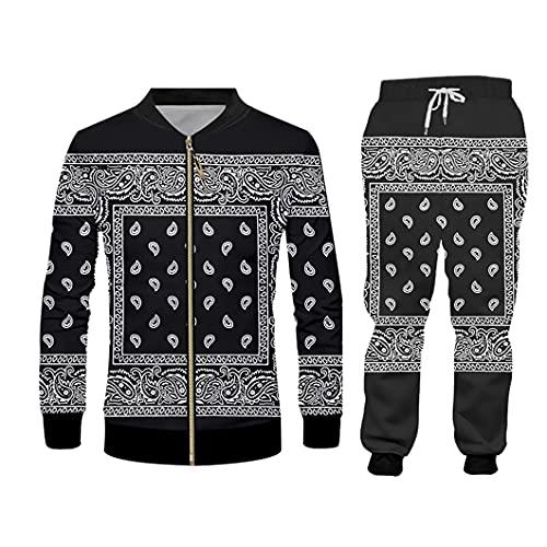 Mujeres/Hombres Jogger Pantalones Sudadera Sweatsuit Sweetpants Streewear Set de Dos Piezas JKPA09740 XXL