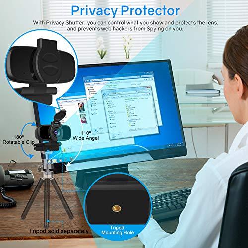 LarmTek 1080P Full HD Webcam,Computer Laptop Kamera für Konferenz-und Videoanruf,Pro Stream Webcam mit Plug and Play Videoanruf