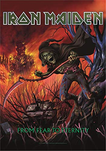 Heart Rock - Bandera Original de Iron Maiden from Fear to Eternity, Tela, Multicolor, 110 x 75 x 0,1 cm