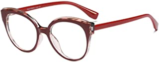 Fulision Fashion reading glasses classic round magnification lens reader unisex